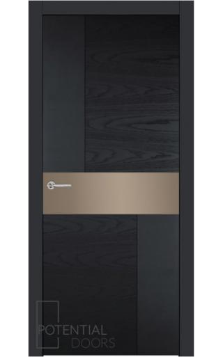 Potential Doors Potential Doors Blend 408.57 ДО Чёрный 9005 Зеркало сатинато бронза
