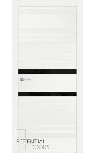 Potential Doors Potential Doors Blend 409.74 ДО Белый 9003 Лакобель черный